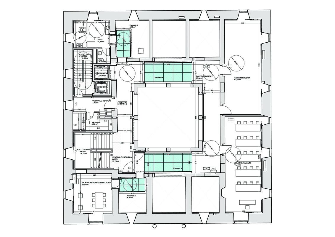 Rehabilitaci n bilbao y gallastegi arquitectos for Hoteles en planta